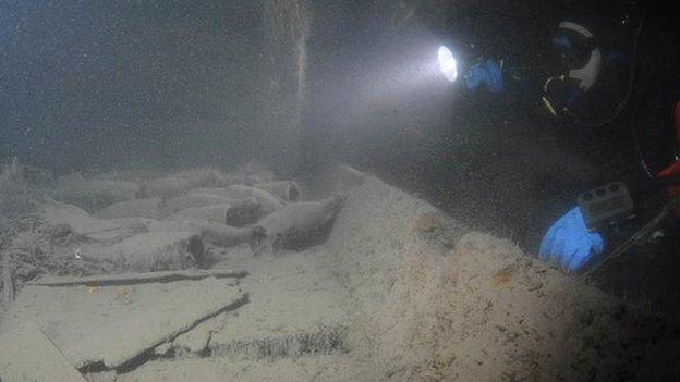Bottles of champagne salvaged from a 170-year-old shipwreck have been analysed in the lab