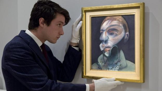 Two self-portraits by Francis Bacon are going on public display for the first time after being rediscovered in a private collection, before being sold.