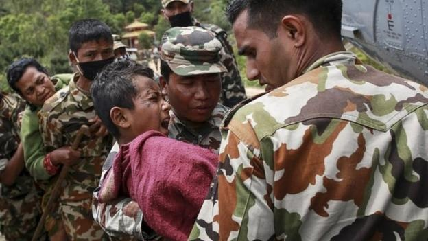 "Nepal is on a ""war footing"" as it struggles to meet the overwhelming need following Saturday's earthquake, its prime minister says."