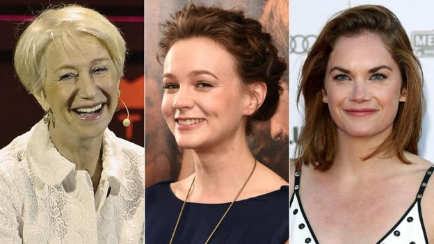 British stars Carey Mulligan, Ruth Wilson and Dame Helen Mirren are all in the running for best actress at the Tony Awards.