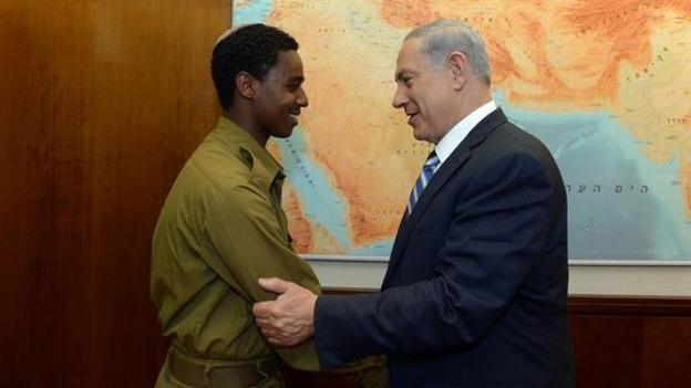 Prime Minister Benjamin Netanyahu says racism in Israel must be eliminated, after protests by Ethiopian Israelis against alleged discrimination.