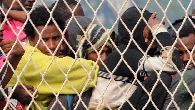 Dozens of migrants have drowned in the Mediterranean after a boat sank south of Sicily, the Save the Children aid group says.