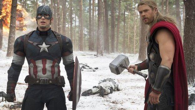 Avengers: Age of Ultron tops the US and Canada box office with $191.3m (£126.5m) in its opening weekend, but fails to beat the debut of 2012's Avengers film.