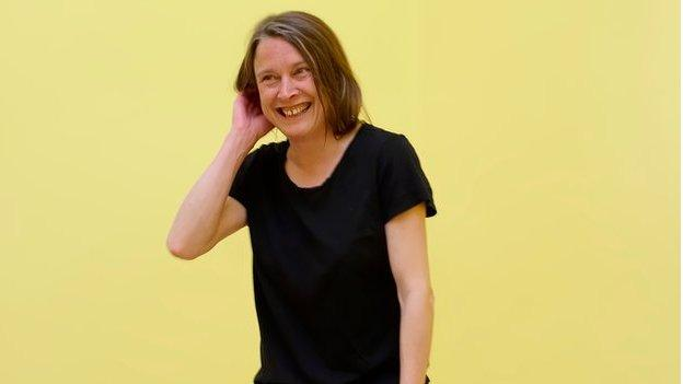 """Artist Sarah Lucas says there is nothing """"particularly offensive or rude"""" about her provocative show at the British Pavilion at the Venice Biennale."""