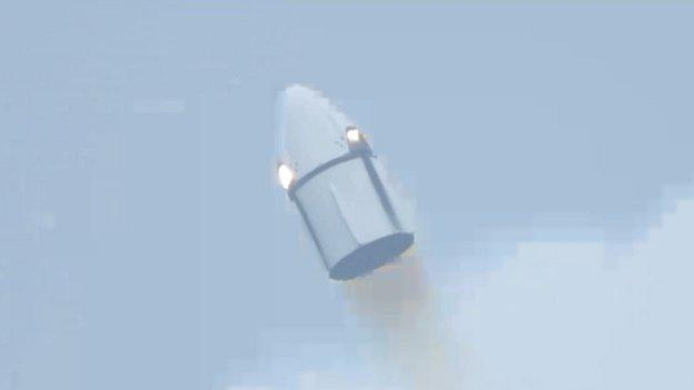 SpaceX has put its Dragon astronaut capsule through a practice abort.