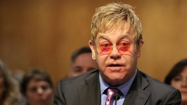 Sir Elton John tells a US Senate panel Aids could be eradicated in his lifetime, but only if the US government continues funding the fight.