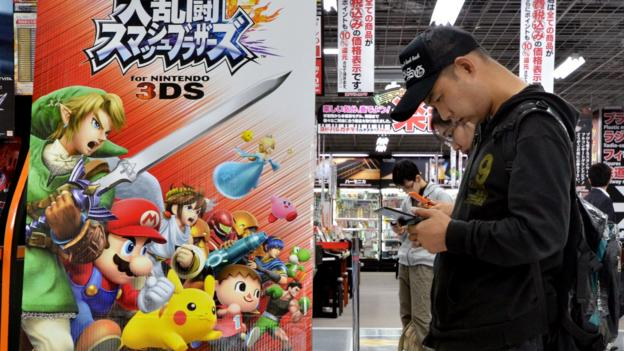 Japanese videogame maker Nintendo makes its first annual operating profit in four years, beating its forecast as well as the market's.