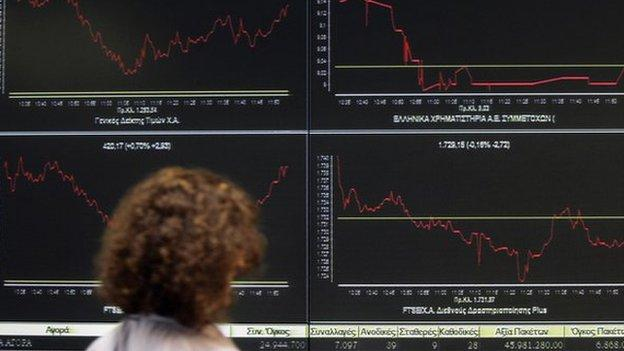 European stocks close down after a Greek minister said that Athens would struggle to meet its upcoming debt payments.
