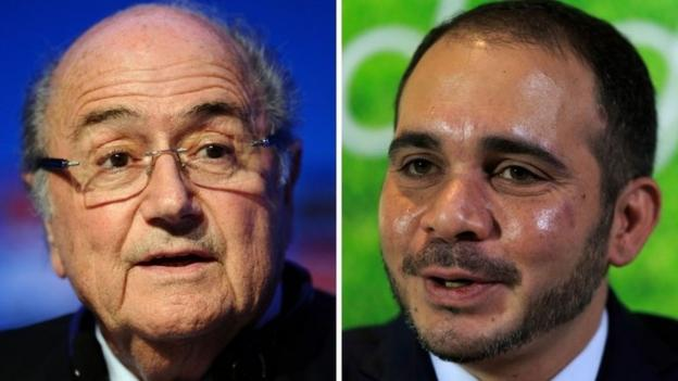 Beleaguered Fifa president Sepp Blatter calls for unity in a fighting speech ahead of a vote to decide the presidency of football's world governing body.