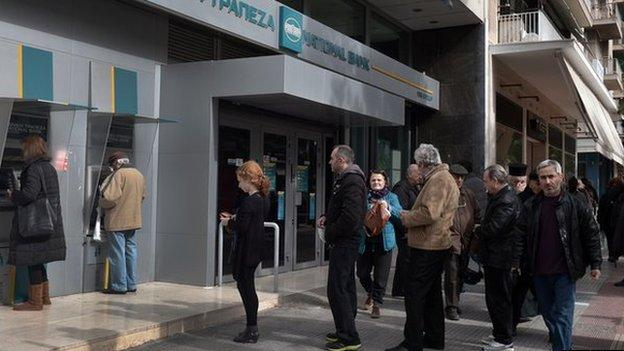 Greek bank deposits fall to their lowest level in more than 10 years as concerns persist over the country's debt burden and possible euro exit.