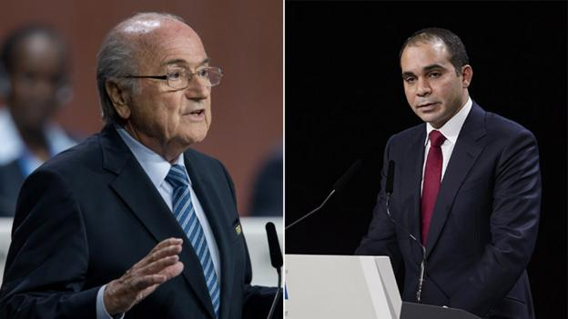 The rivals for the Fifa leadership, Sepp Blatter and Prince Ali, deliver final appeals to electors in a vote overshadowed by corruption allegations.