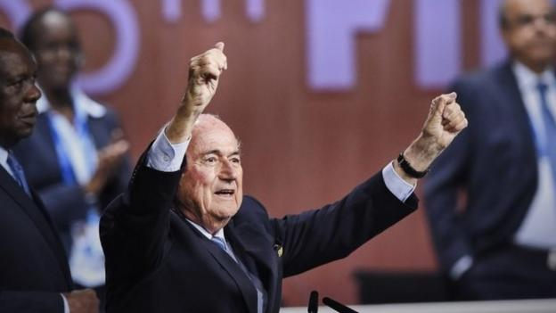 "Newly re-elected Fifa president Sepp Blatter condemns a ""hate"" campaign by European officials and says he was ""shocked"" by the comments of US prosecutors."