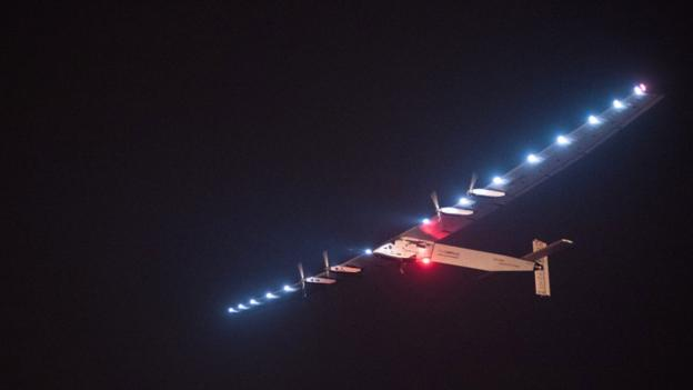 Swiss pilot Andre Borschberg begins his bid to cross the Pacific, from China to Hawaii, in the zero-fuel Solar Impulse aeroplane.