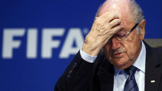 Sepp Blatter is to resign as president of football's governing body Fifa amid a corruption scandal after 17 years in charge.