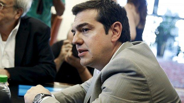 Talks on Greece's future are starting in Brussels, as the Greek prime minister urged European leaders to show realism with his country's debt.