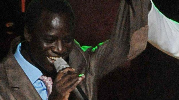 Senegalese singer Thione Seck is charged with money laundering after fake banknotes worth millions of dollars were found in his house.