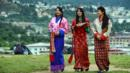 Schoolgirls in traditional Bhutanese dresses (Credit: Credit: Roberto Schmidt/AFP/Getty)