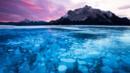 Canada, Frozen bubbles, Abraham Lake, Alberta (Credit: Credit: robertharding/Alamy)