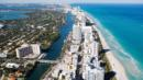 Miami Beach is a narrow barrier island