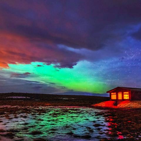 hotel ranga, aurora borealis (Credit: Credit: Tom Stahl)
