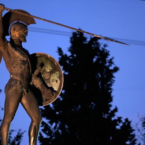 Greece, Sparta, warrior (Credit: Credit: STRINGER/Getty Images)