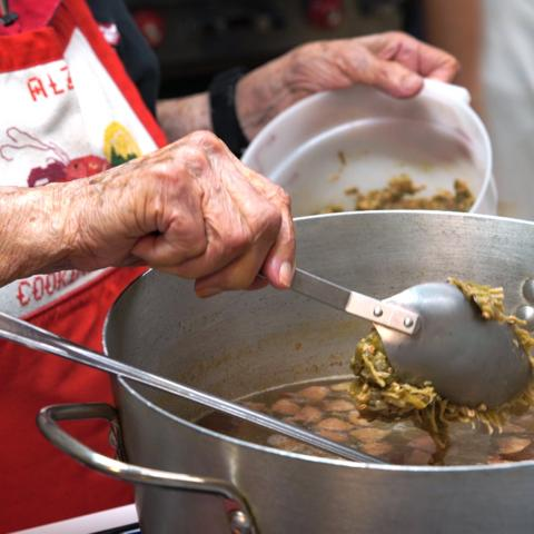 Alzina Toups cooks some of the world's greatest Cajun cuisine (Credit: Credit: Sebastian Diaz)