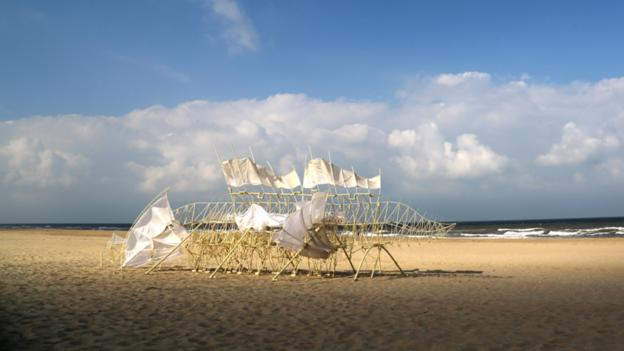 Bbc Culture Theo Jansens Strandbeests Wind Powered Skeletons