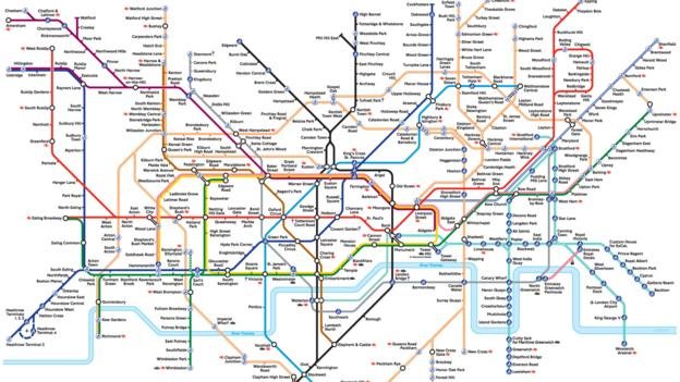BBC - Culture - The London Underground map: The design that shaped London Subway System Map on