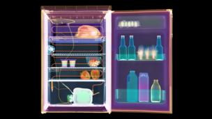 X-ray of fridge (Copyright: SPL)
