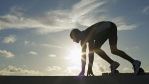Silhouette of athlete (Copyright: Thinkstock)