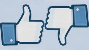 Facebook like and 'dislike' logo (Copyright: Getty Images)