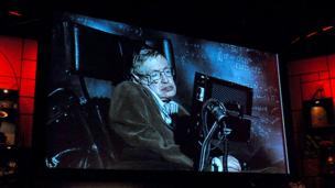 Stephen Hawking at TED (Copyright: TED)