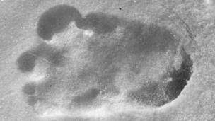 A footprint that claimed to be from the Abominable Snowman. (Copyright: Getty Images)