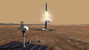 Concept of a Mars Sample Return mission (Copyright: Wickman Spacecraft & Propulsion Co)