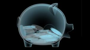 X-ray of piggy bank (Copyright: Thinkstock)