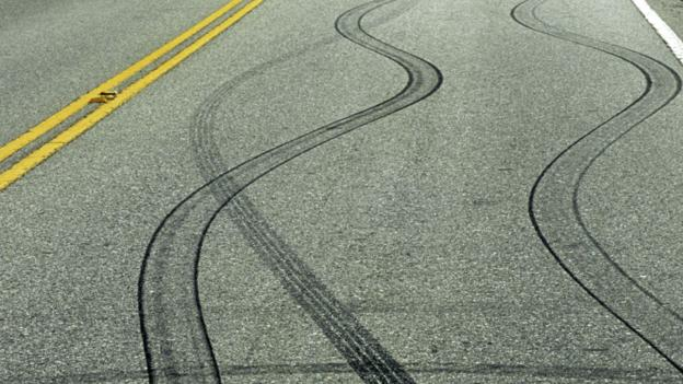 Skid marks (Copyright: SPL)