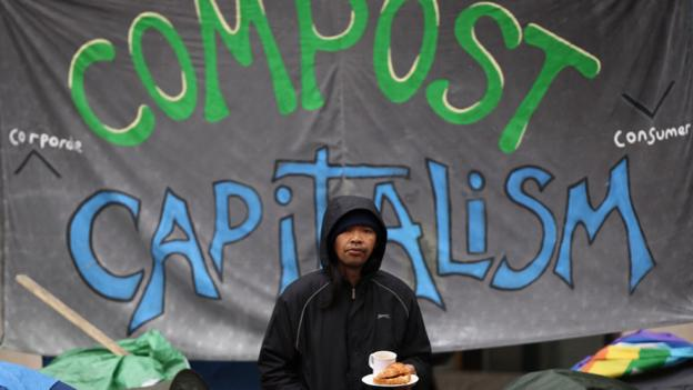 Anti-capitalism protestors (Copyright: Getty Images)