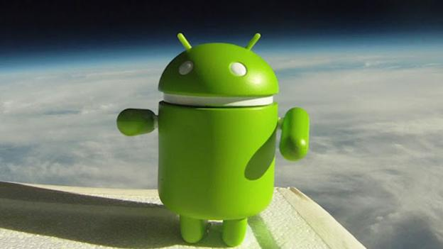 Google Android figure in space (Copyright: Google)