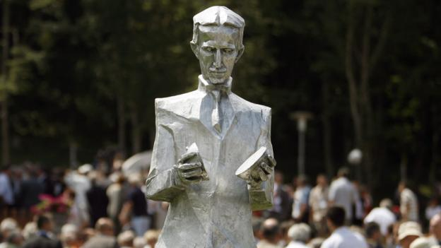 Tesla statue (Copyright: Getty Images)