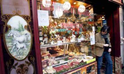 Một người bán thịt horsemeat ở Paris