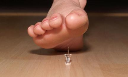 Stepping on a pin