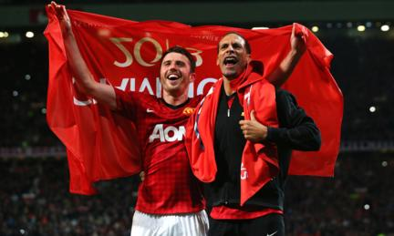 Rio Ferdinand and Michael Carrick 