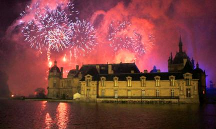 Fireworks over the Château de Chantilly.
