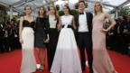 Cast of The Bling Ring, in Cannes, on 16 May 2013