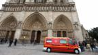 Ambulance outside the cathedral of Notre Dame de Paris (21 May 2013)