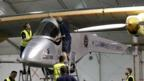 Solar Impulse plane before Phoenix takeoff