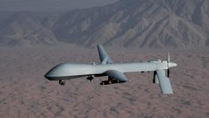Archive photo of a Predator drone, December 2008