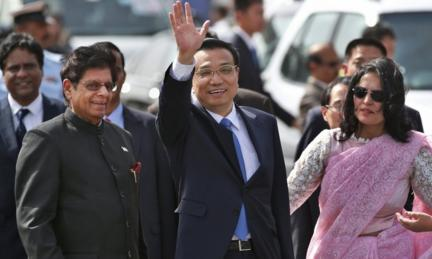 China&#039;s Premier Li Keqiang on his arrival in Delhi on Sunday afternoon