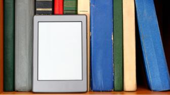 Books and an e-reader