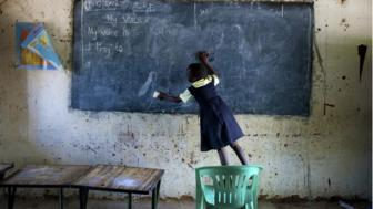School girl in Africa